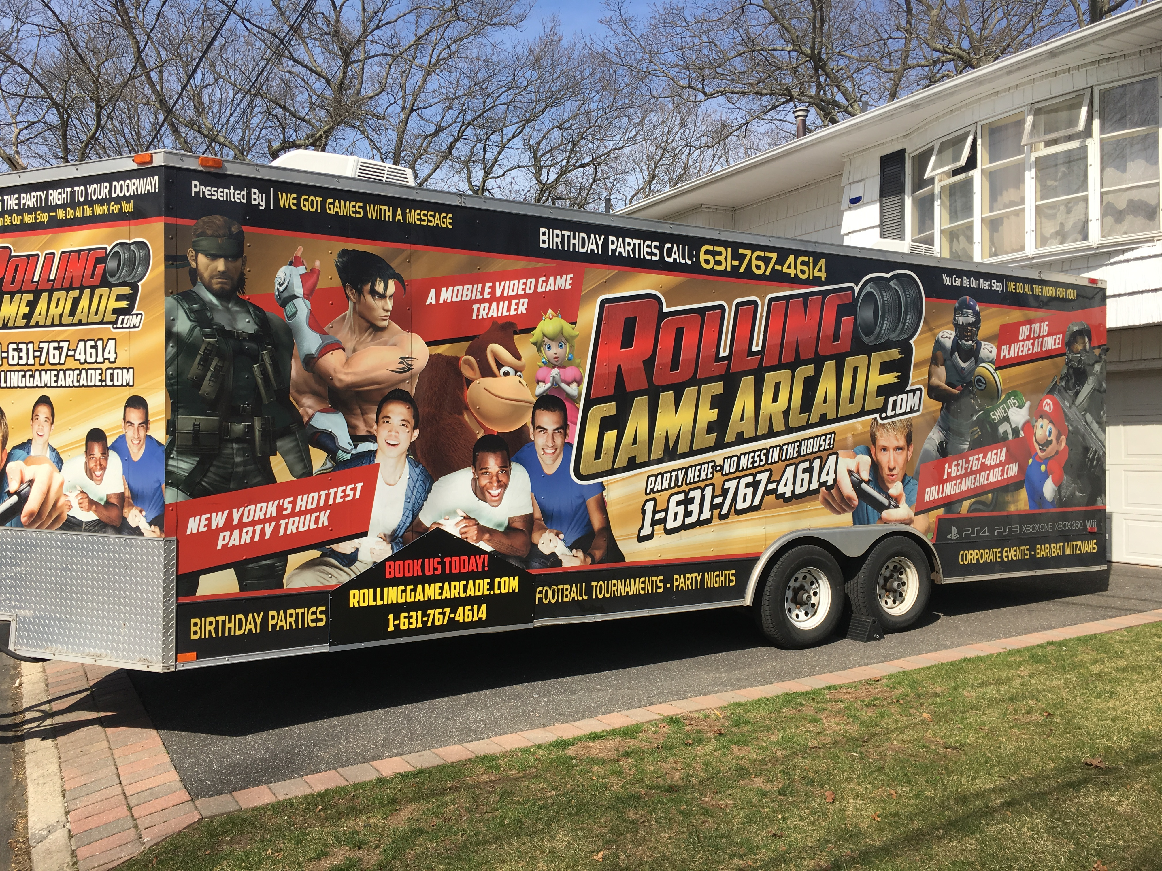 Video Game Truck In New York City And
